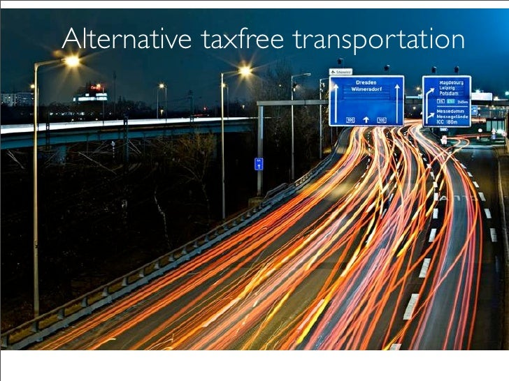 cooperations go creative   Alternative taxfree transportation