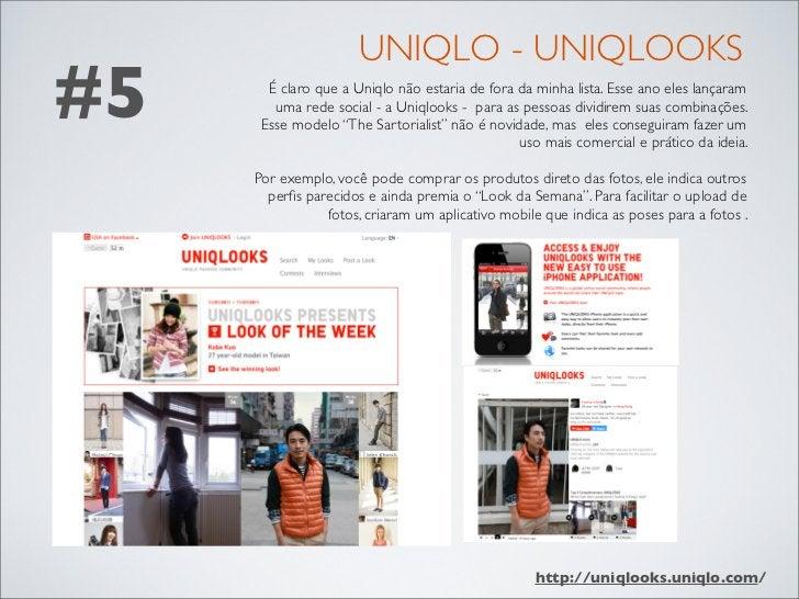 UNIQLO - UNIQLOOKS#5     É claro que a Uniqlo não estaria de fora da minha lista. Esse ano eles lançaram        uma rede s...
