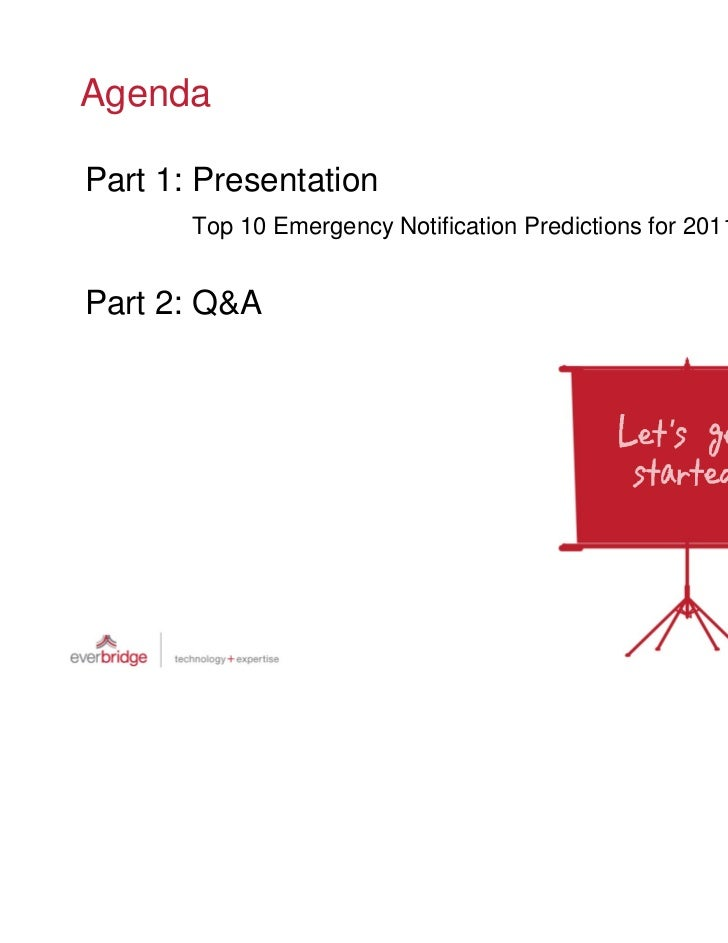 Top 10 Emergency Notification Predictions For 2011