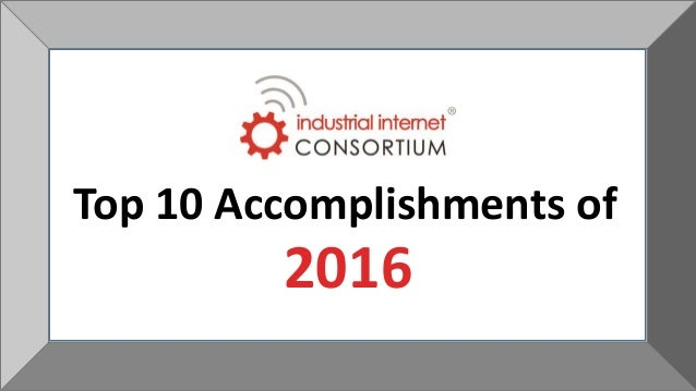 2016 Top 10 Accomplishments of
