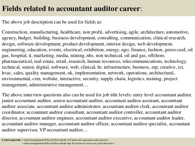 Top 10 Accountant Auditor Interview Questions And Answers