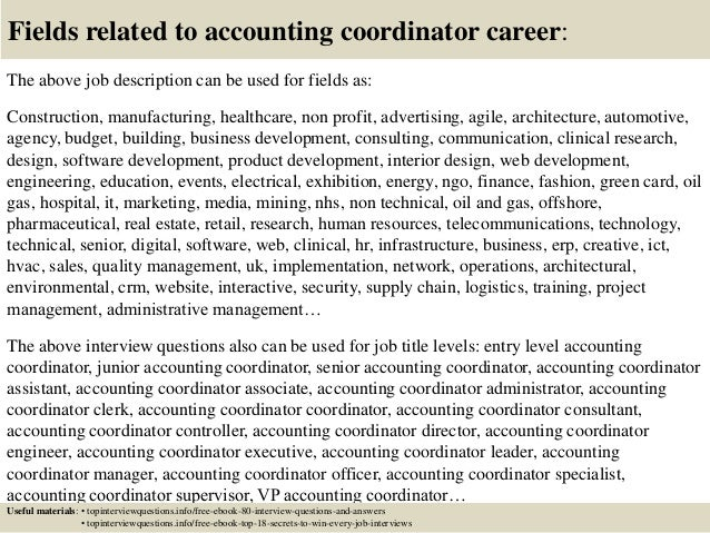 Top 10 accounting coordinator interview questions and answers