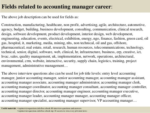 Top  Accounting Manager Interview Questions And Answers