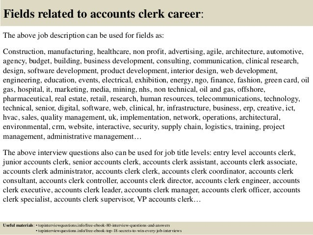 Top 10 accounts clerk interview questions and answers