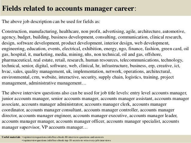 Top 10 accounts manager interview questions and answers