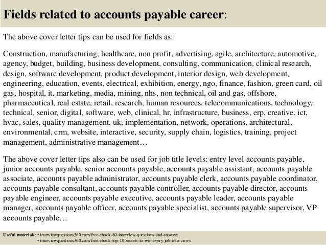 Grab Best Account Payable Cover Letter  You'll Love