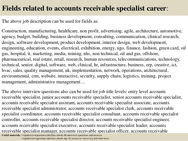 Top 10 accounts receivable specialist interview questions and answers