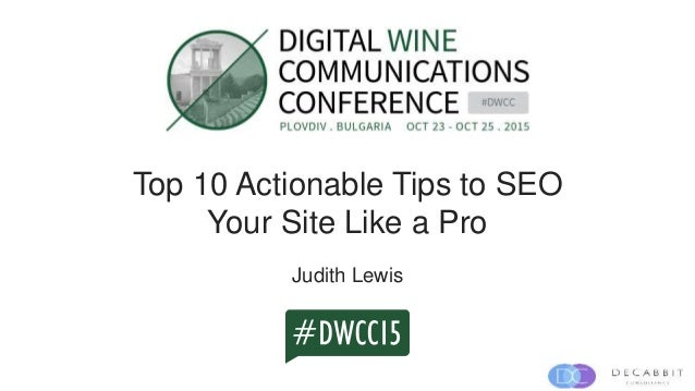 Top 10 Actionable Tips to SEO Your Site Like a Pro Judith Lewis