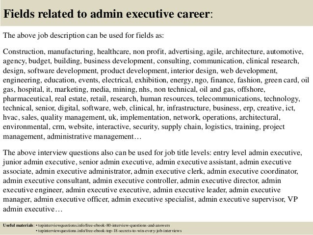 top 10 admin executive interview questions and answers