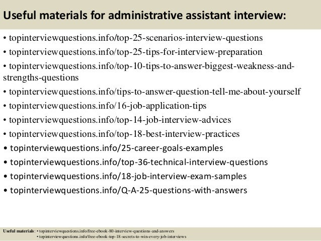 Top 10 administrative assistant interview questions and answers