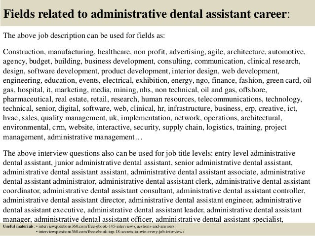 Top 10 administrative dental assistant interview questions and answers
