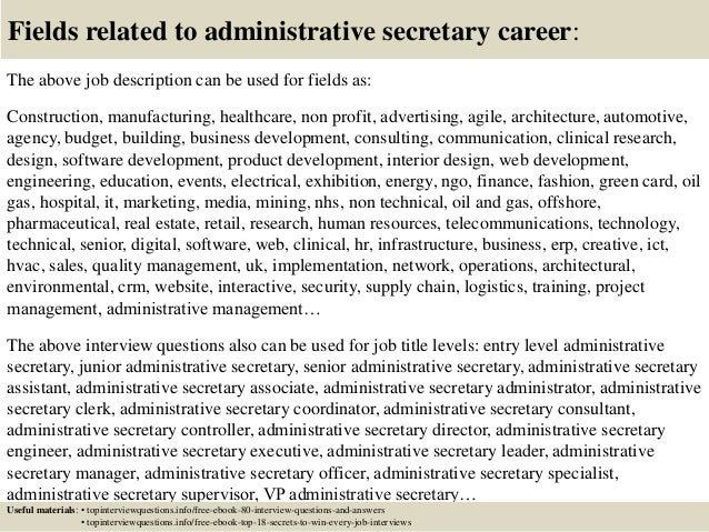 Top 10 administrative secretary interview questions and answers – School Secretary Job Description