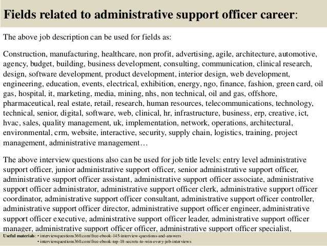 Top 10 administrative support officer interview questions - Chief marketing officer job description ...