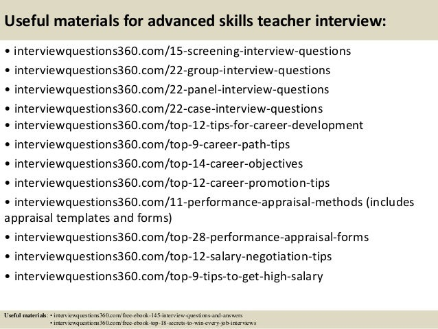 9 sample teacher interview questions and answers