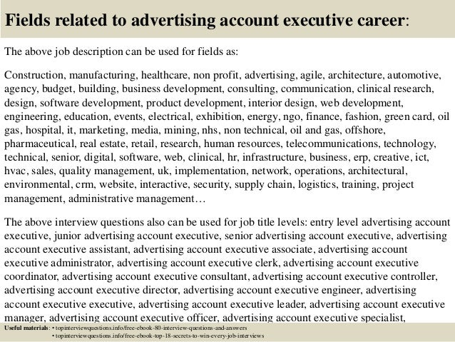 Top 10 advertising account executive interview questions and answers
