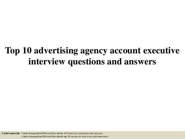 account executive interview questions and answers