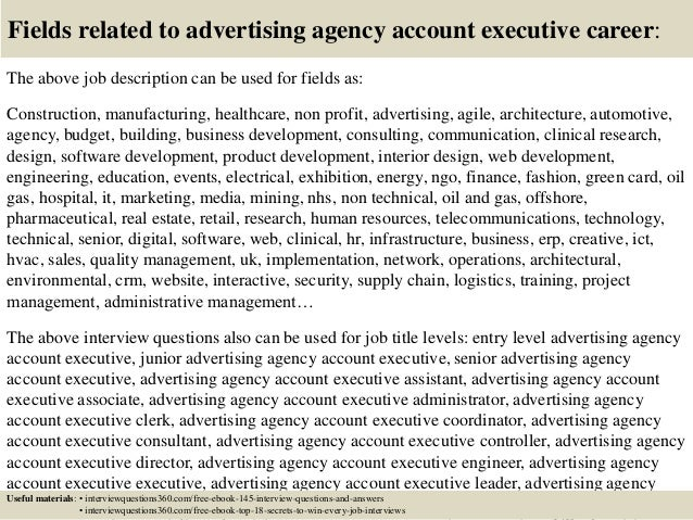 Top 10 advertising agency account executive interview questions and a…
