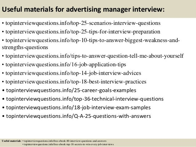 13 useful materials for advertising manager - Advertising Manager Job Description