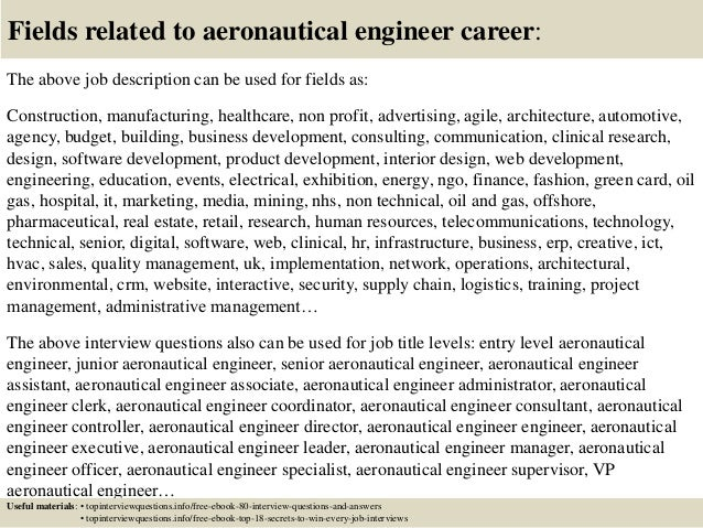 Top 10 aeronautical engineer interview questions and answers