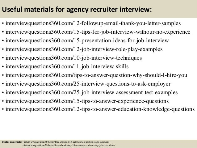 Top  Agency Recruiter Interview Questions And Answers