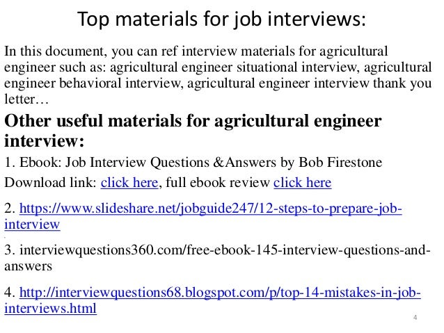 Top 52 Agricultural Engineer Interview Questions And