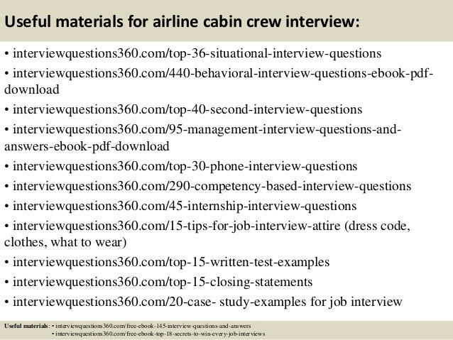 13 useful materials for airline cabin crew interview - Cabin Crew Interview Questions Cabin Crew Interview Tips