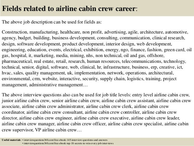 18 fields related to airline cabin crew - Cabin Crew Interview Questions Cabin Crew Interview Tips