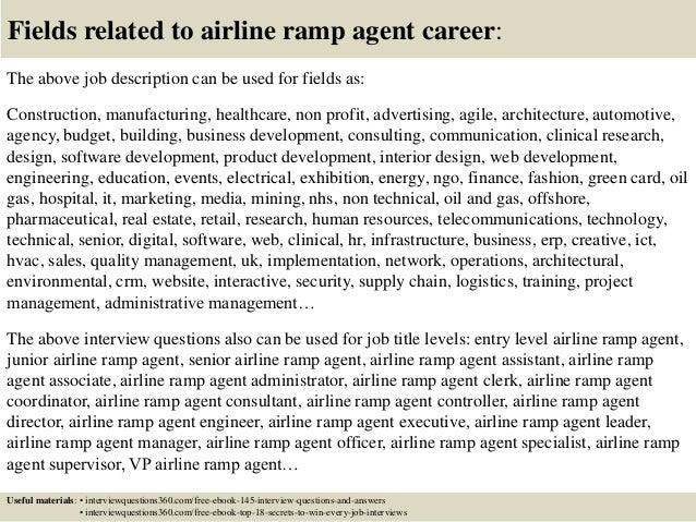 ... 18. Fields Related To Airline Ramp Agent ...