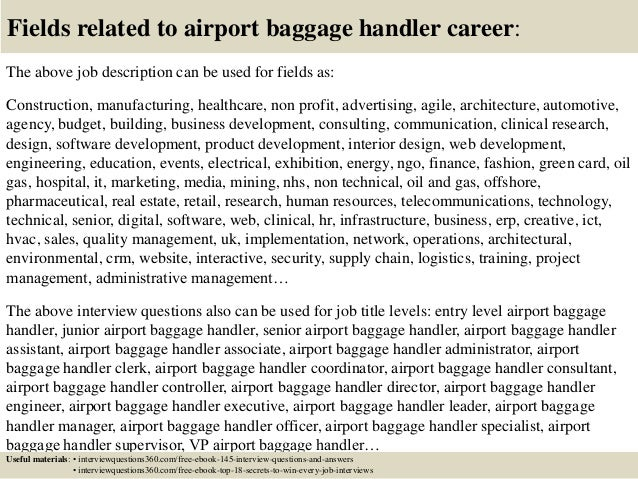 ... 18. Fields Related To Airport Baggage Handler ...