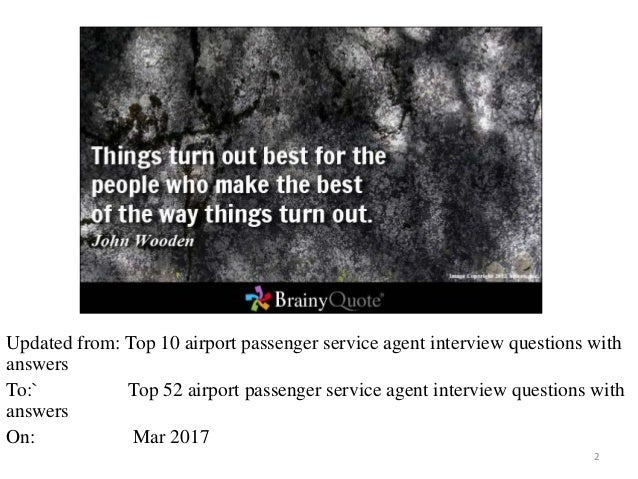 top 52 airport passenger service agent interview questions and answer