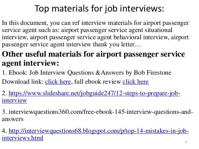 ... Passenger Service Agent Interview; 4.