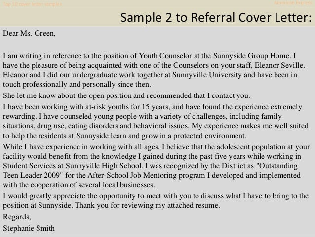 Cover Letter Samples American Express 8
