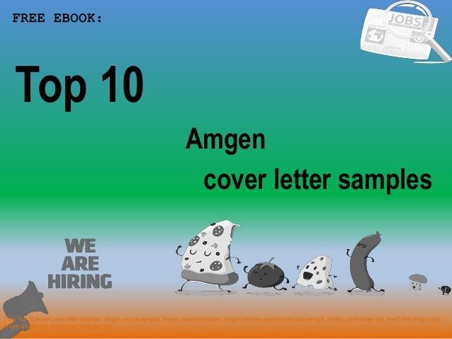 Top 10 amgen cover letter samples
