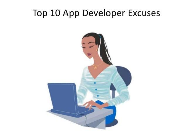 Top 10 App Developer Excuses