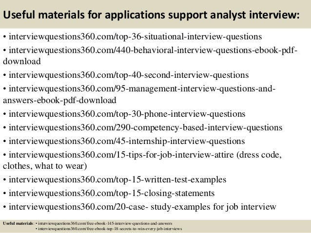 top 10 applications support analyst interview questions and answers