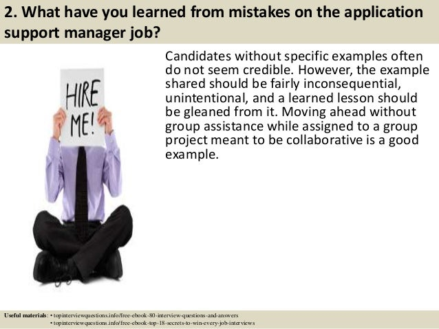 Top 10 application support manager interview questions and answers