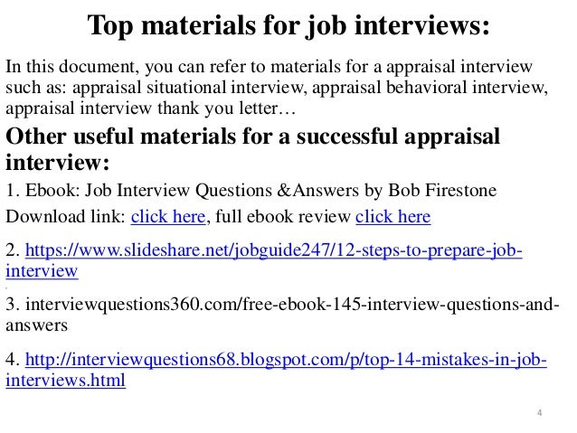 80 appraisal interview questions and answers