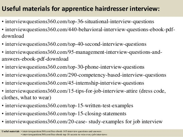 Nice Hairdresser Interview Questions And Answers