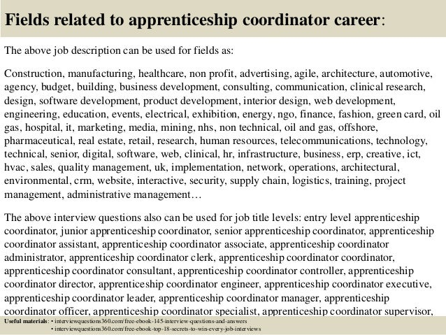 apprenticeship interview questions and answers pdf