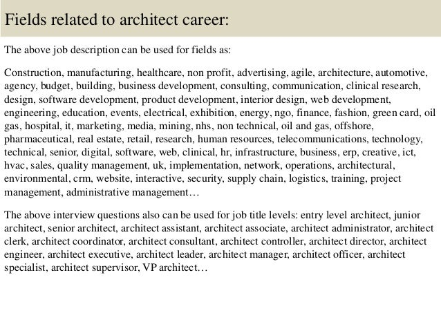 java architect description architect description