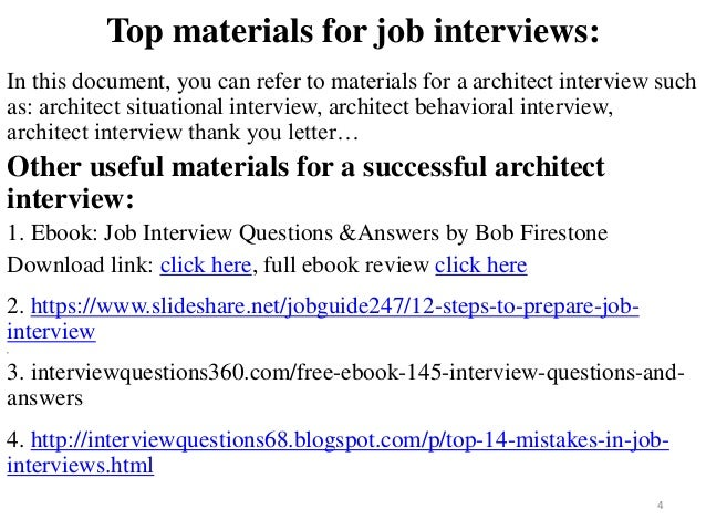 ... Architect Interview; 4.