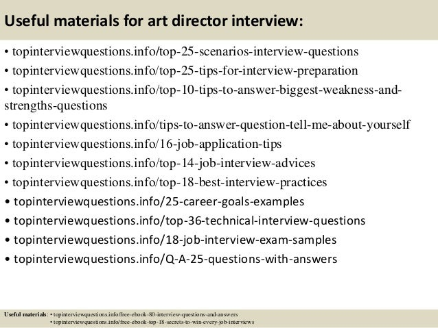 Top  Art Director Interview Questions And Answers