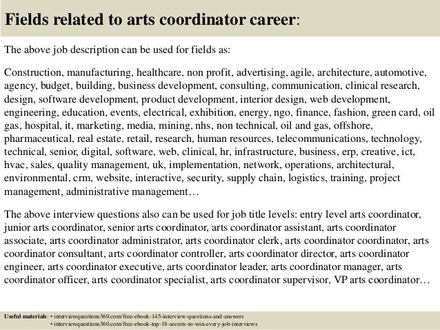 Top 10 arts coordinator interview questions and answers