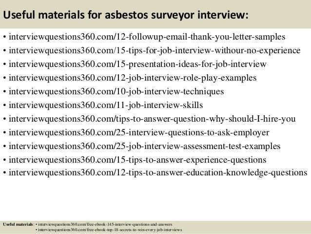 15 useful materials for asbestos surveyor