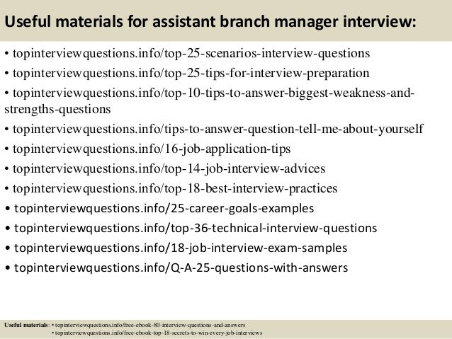 Top 10 assistant branch manager interview questions and answers