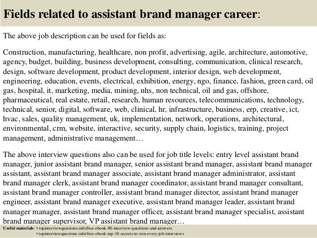 Top 10 Assistant Brand Manager Interview Questions And Answers