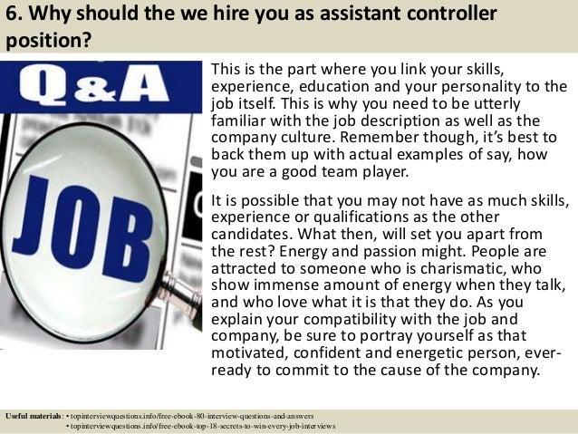... 7. 6.  Assistant Controller Job Description