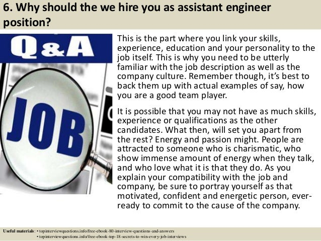 Top  Assistant Engineer Interview Questions And Answers