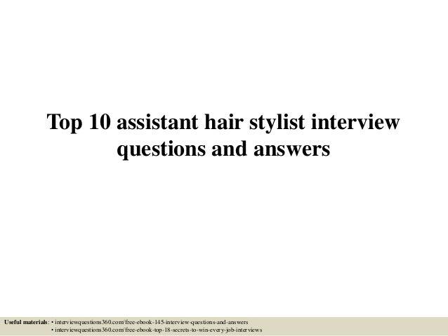 hair stylist assistant