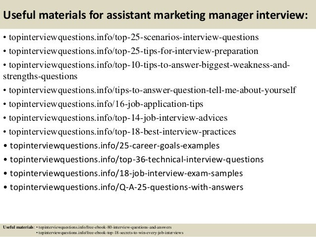 13 useful materials for assistant marketing manager interview - Marketing Manager Interview Questions And Answers